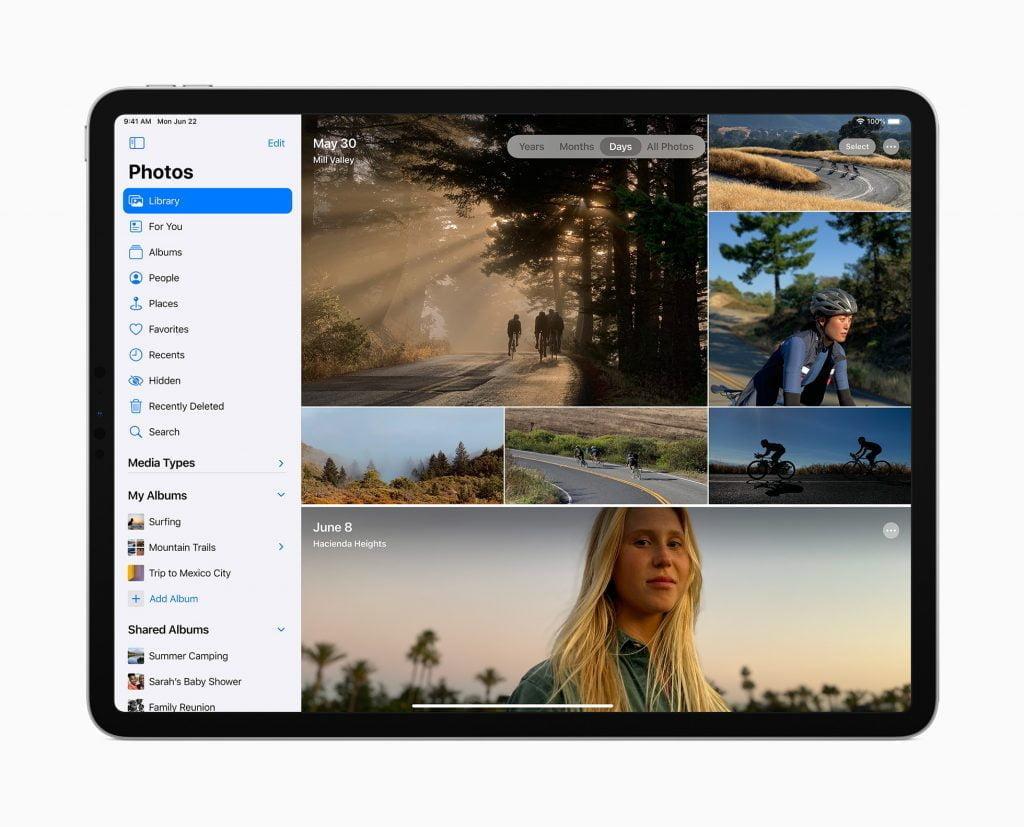 Fotoapp i iPadOS 14