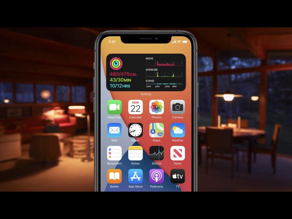 Widgets på iPhone