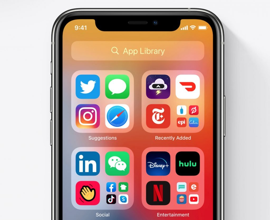 Appbibliotek i iOS 14