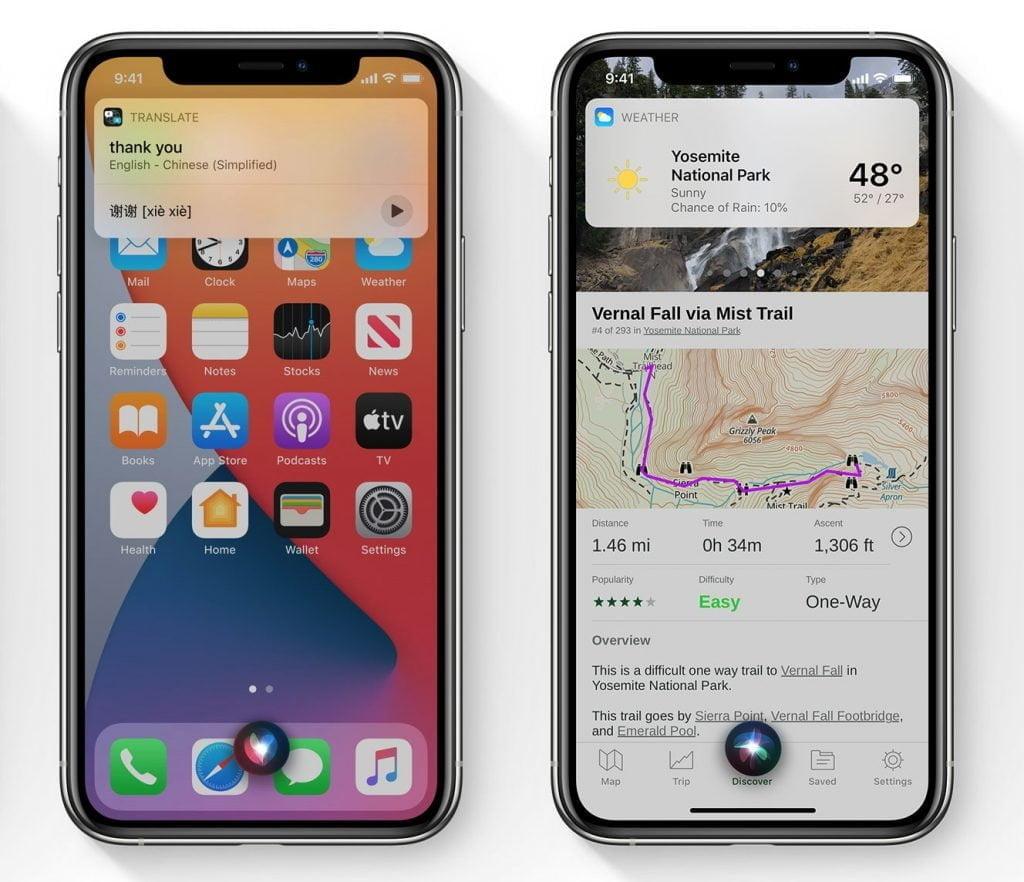 Siri i iOS 14