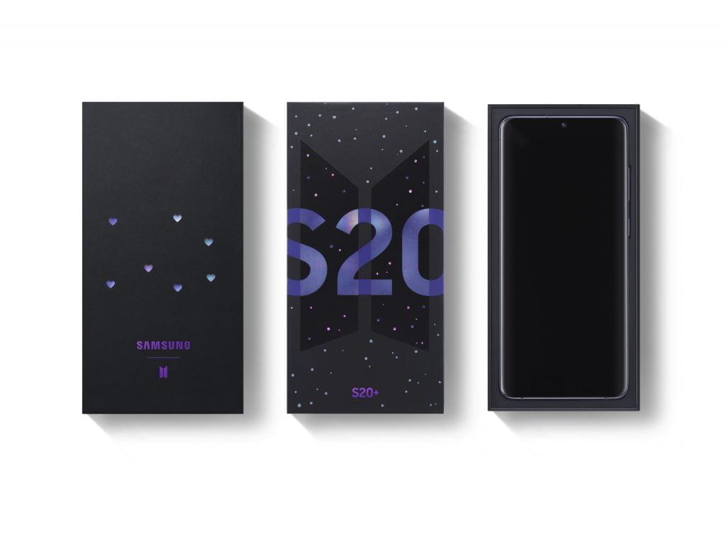 Samsung Galaxy S20 Plus og Galaxy Buds Plus i BTS-Edition (Foto: Samsung)