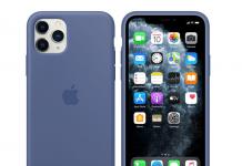 Apple iPhone 11-serien med ny linnedblå silikonecover (Foto: Apple)