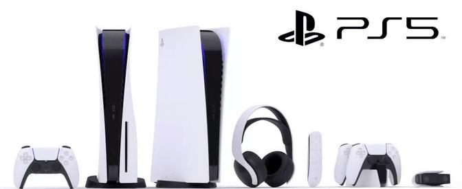Sony PlayStation 5-konsol, dualSense kontrollere og Pulse 3D wireless headset (Foto: Sony)