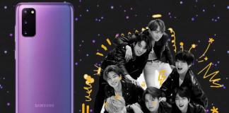 Boybandet BTS får en særlig BTS-Edition af Galaxy S20 Plus (Foto: Twitter Max Winebach)
