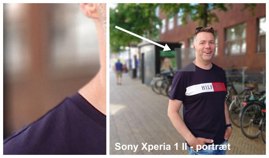 Eksempel på portrættilstand i Sony Xperia 1 II (Foto: MereMobil.dk)