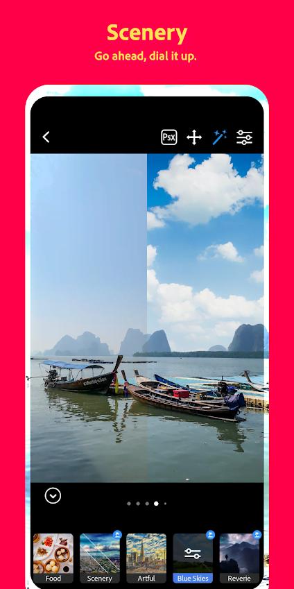 Photoshop Camera app'en er klar til iOS og Android (Foto: Adobe)