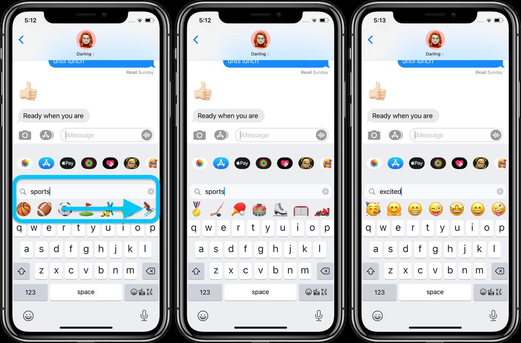 Søg efter emoji i iOS 14 (Foto: 9to5mac)