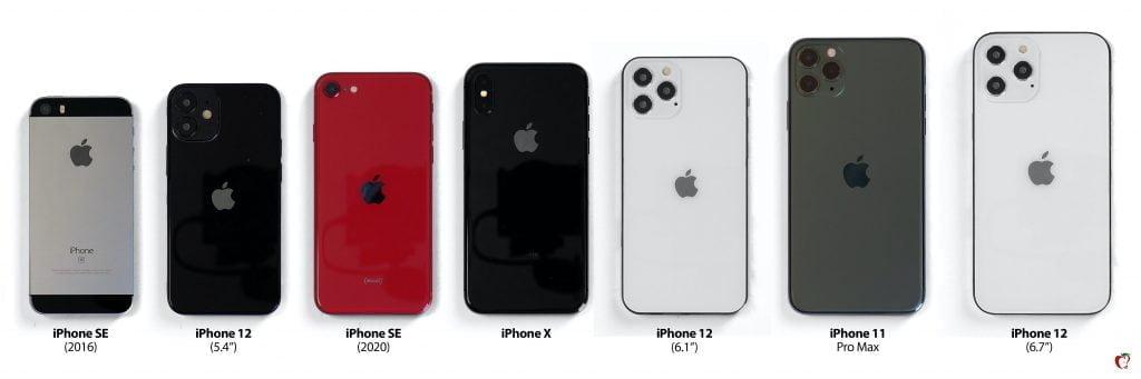 iPhone 12 sammenligning  (Foto: Macrumors)