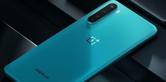 OnePlus Nord i farven Blue Marble