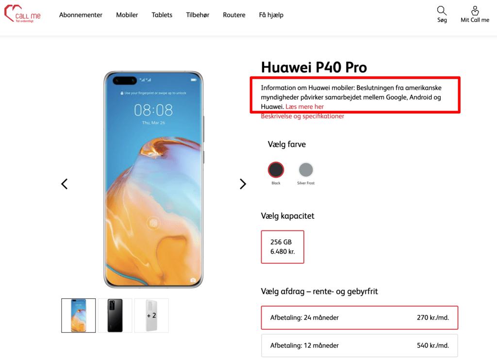 CallMe-Huawei-advarsel