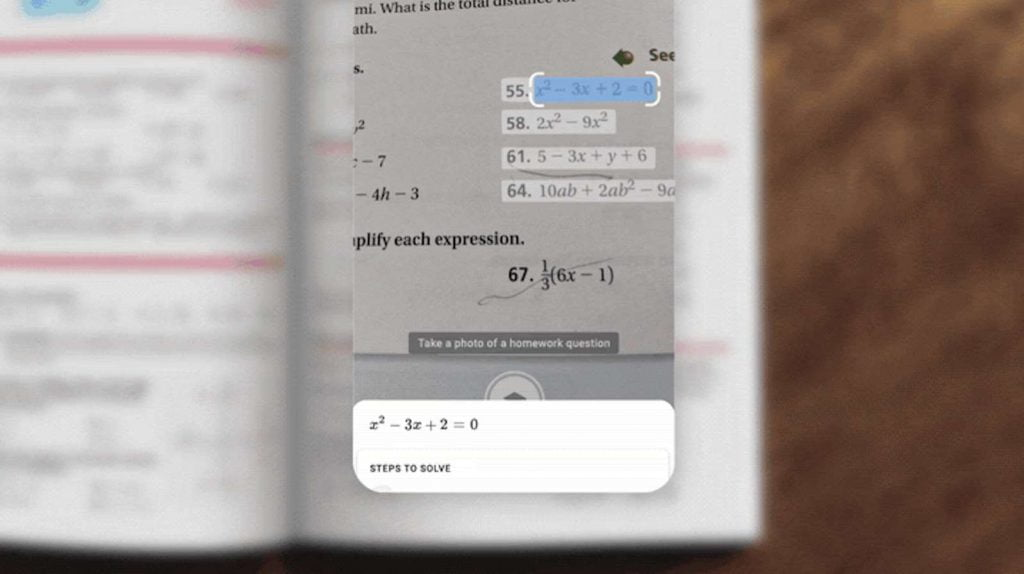 Google Lens Matematik