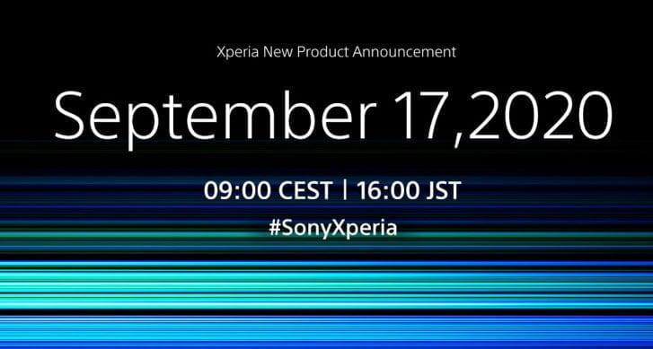 Sony er klar med invitationen til en event i september 2020 - måske annonceringen af Xperia 5 II