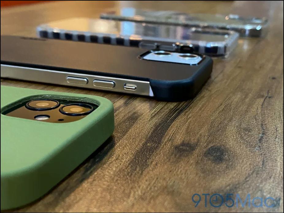 Lækkede billeder af dummy-enheder, som måske skulle være designet på iPhone 12 serien (Kilde: 9to5mac)