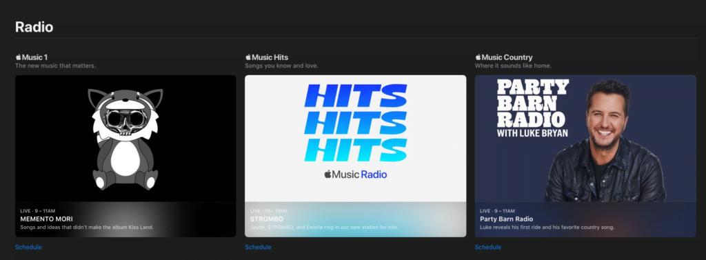 Apple Beats 1 skifter navn til Apple Music 1 og derudover er Apple klar med to nye radiostationer, Apple Music Hits og Apple Music Country (Foto: MereMobil.dk)