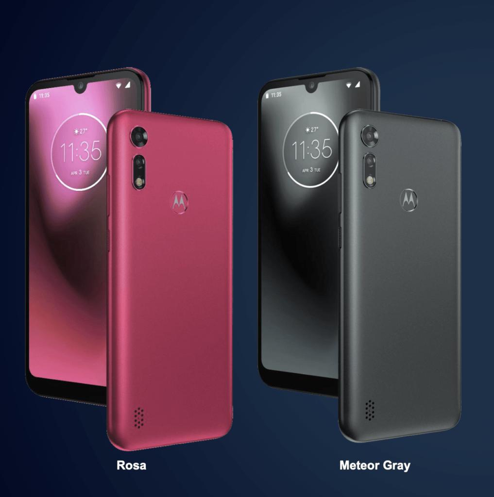 Motorola Moto e6s i Rosa og Meteor Gray (Foto: Motorola)