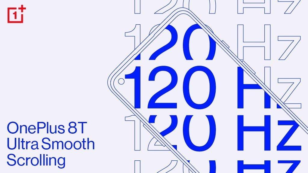 OnePlus har bekræftet, at OnePlus 8T kommer med 120 Hz opdateringshastighed på skærmen (Foto: OnePlus)