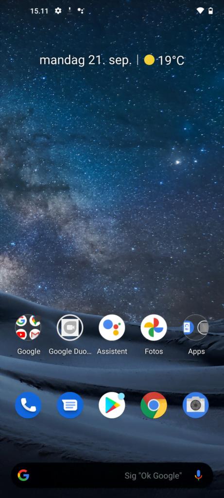 Skærmbillede, Nokia 8.3 5G
