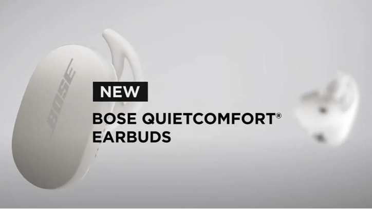 Bose er på vej med et par trådløse earbuds. Navnet er Bose QuietComfort Earbuds