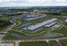 Facebook datacenter i Odense udvider med en tredje bygning i 2023 (Foto: Facebook)