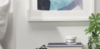 """Boghylde""-højttaleren fra Sonos og IKEA med blå front (Foto: IKEA)"
