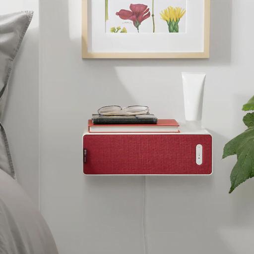 """""""Boghylde""""-højttaleren fra Sonos og IKEA med rød front (Foto: IKEA)"""