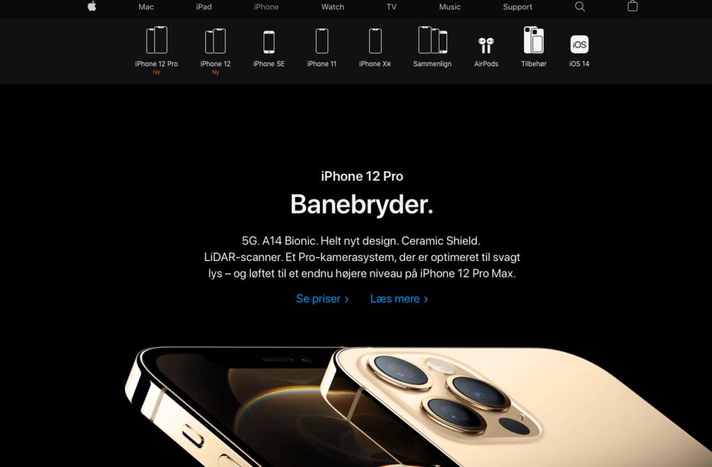 Apples iPhone sortiment består nu af iPhone 12, iPhone 12 mini, iPhone 12 Pro, iPhone 12 Pro Max, iPhone SE, iPhone 11 og iPhone Xr (Foto: MereMobil.dk)