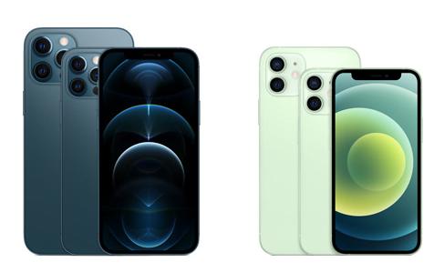 iPhone 12 og iPhone 12 Pro - i mini og Max versioner også (Foto: Apple)
