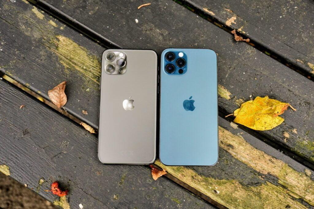 iPhone 11 Pro og iPhone 12 Pro