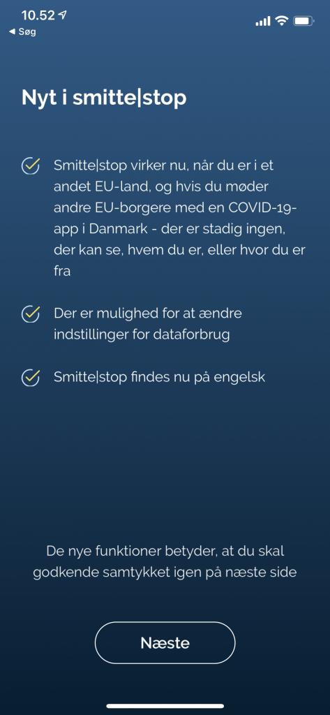 Smittestop-appen får stor opdatering, der betyder den nu virker på tværs af EU's grænser.