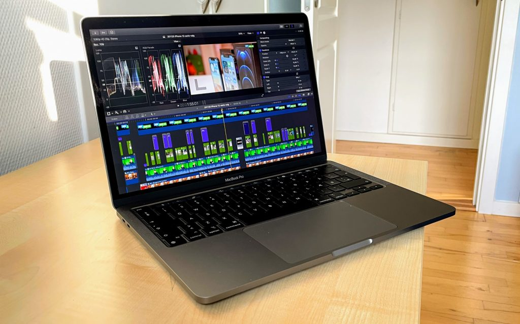 Final Cut Pro på MacBook Pro 13-tommer, M1-2020 (
