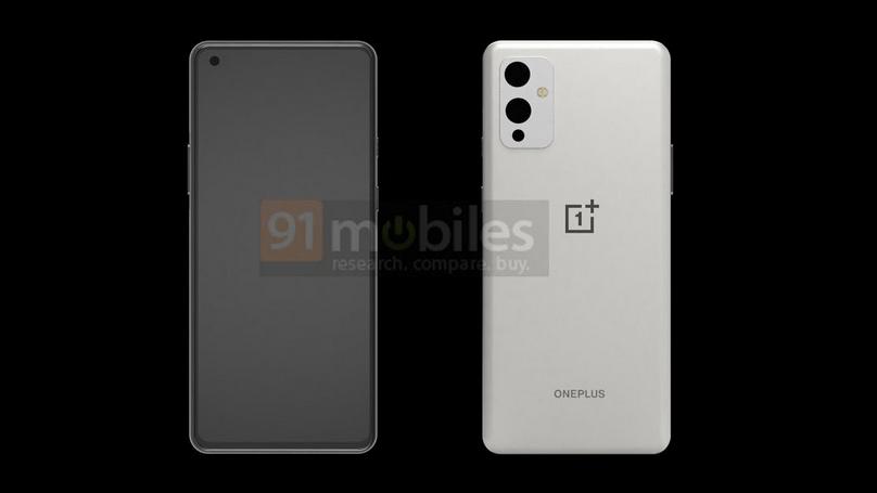 Billeder lækket af det, som måske bliver den kommende OnePlus 9 (Kilde: 91Mobiles)