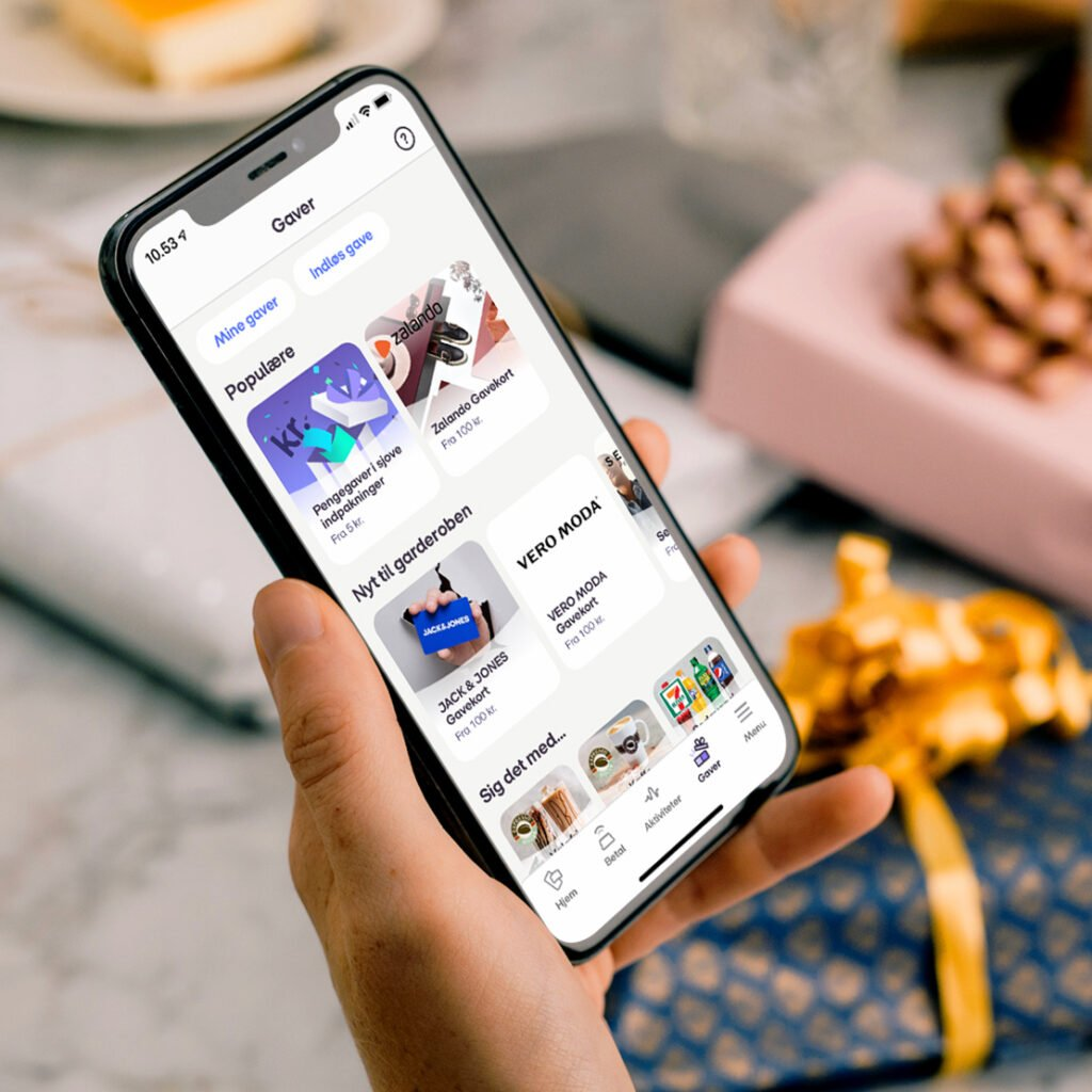MobilePay Gaver giver mulighed for at give gavekort via MobilePay-appen (Foto: MobilePay)