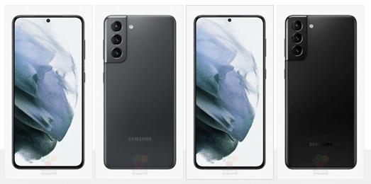 Samsung Galaxy S21 (højre) og Galaxy S21+ (venstre) er afsløret før lancering (Kilde: WinFuture.de)