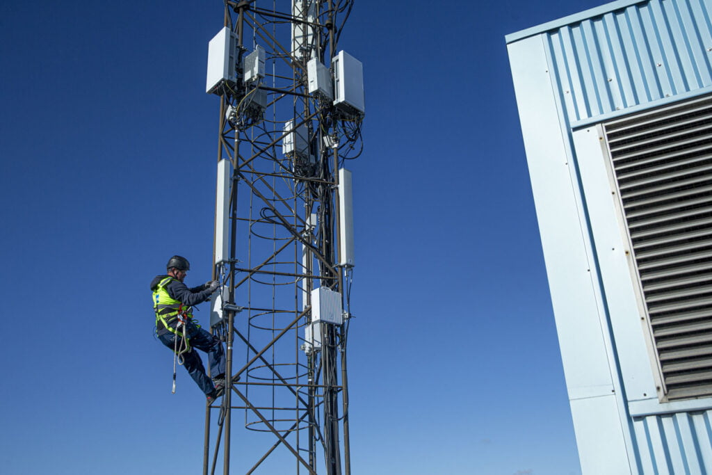 Netværk, mobilmast, 5G, 4G
