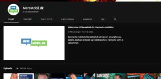 MereMobil.dk har selvfølgelig også en YouTube-kanal - abonner gerne på den