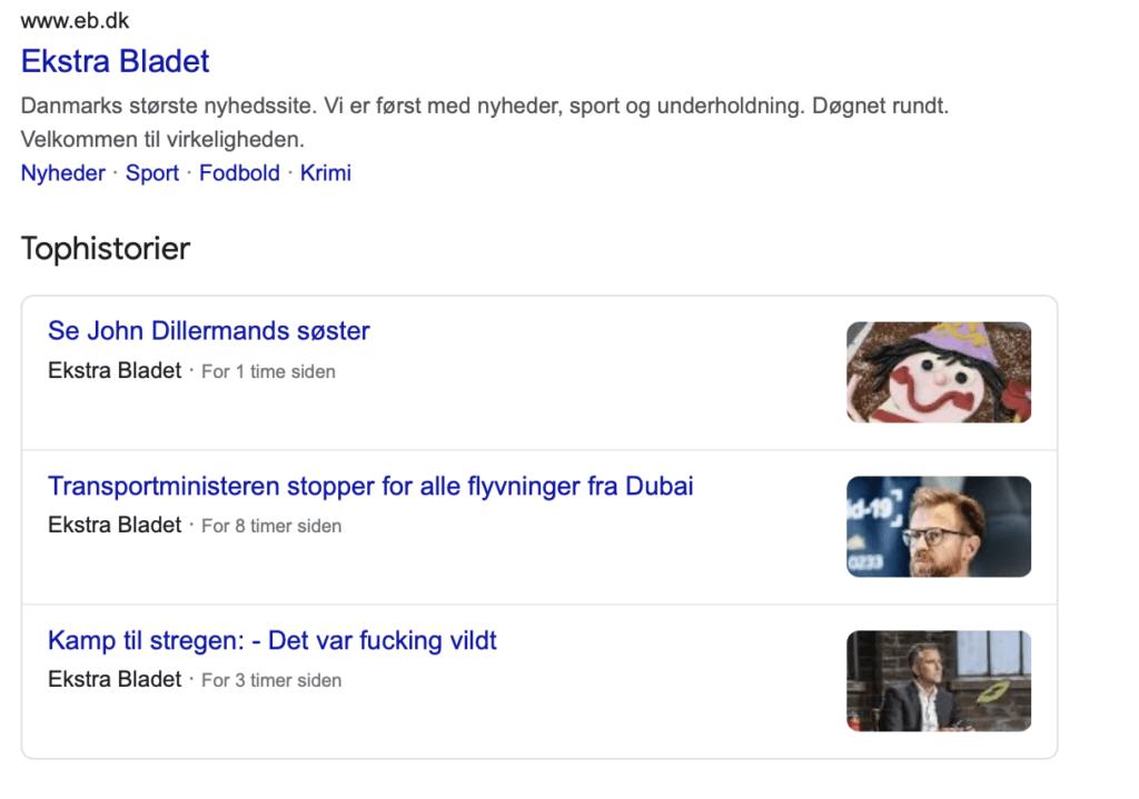 Nyheder på Google