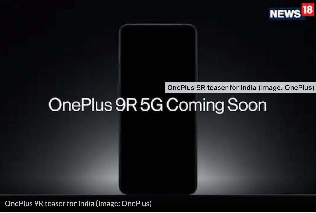 Teaser for OnePlus 9R på det indiske marked (KIlde: News18)
