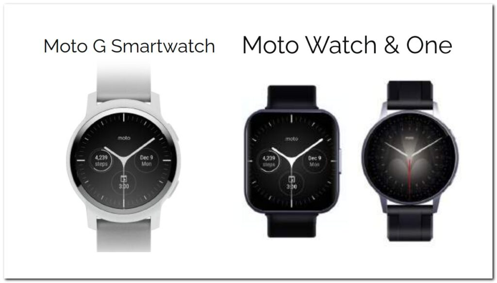 Dette er formentlig de kommende smartwatches fra Motorola (Kilde: Pocketnow)
