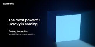 Samsung har sendt invitationerne ud til deres næste store Unpacked-event, som finder sted den 28. april 2021 (Kilde: Samsung)