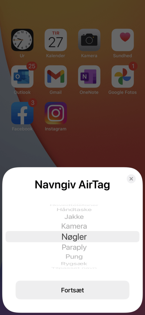 AirTag screenshot