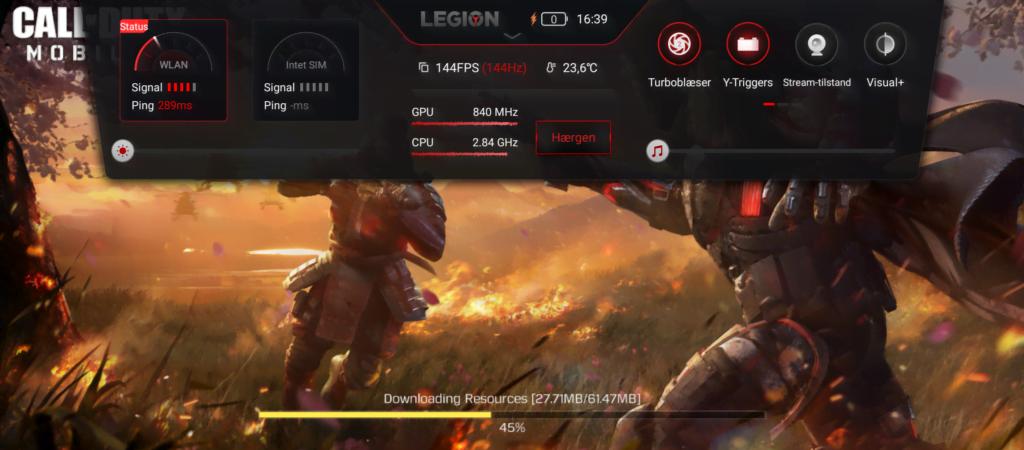 """""""Hærgen""""-mode på Lenovo Legion Duel 2 (Foto: MereMobil.dk)"""