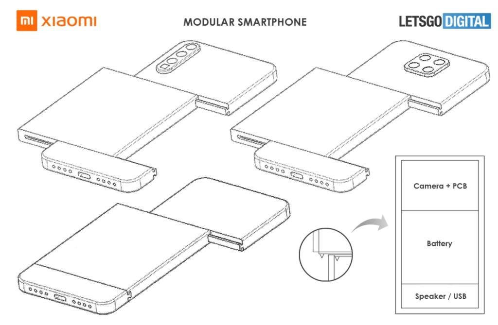 Xiaomi har patent på en ny modul-smartphone (Kilde: Mspoweruser.com)
