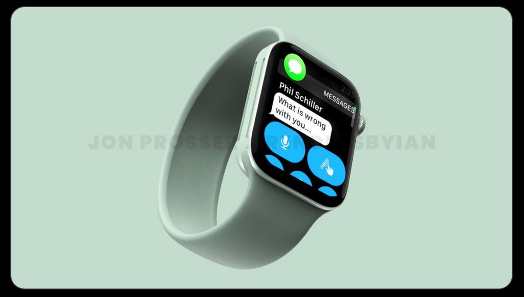 Bud på hvordan Apple Watch Series 7 vil se ud (Kilde: Jon Prosser og Ian Zelbo)