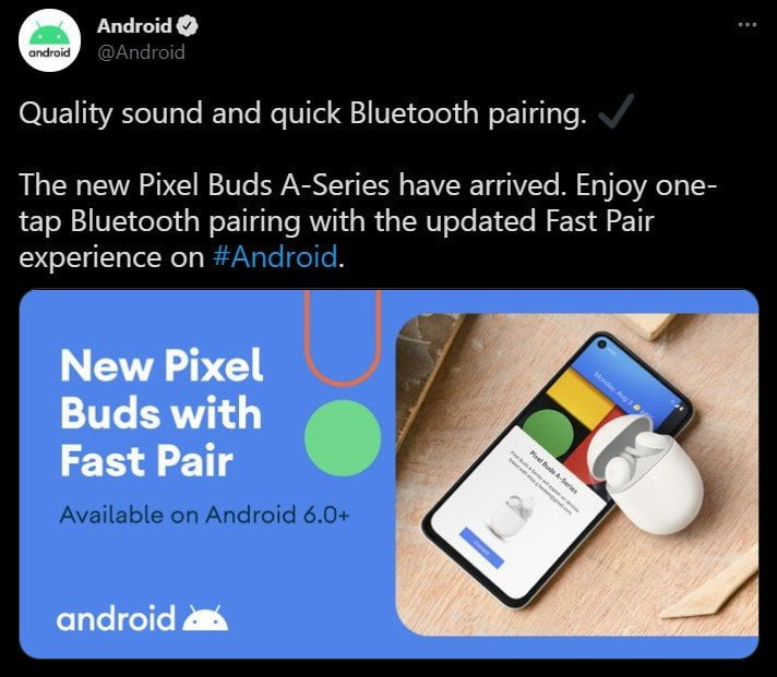 Google Pixel Buds A-series tweet (Foto: AndroidCentral)