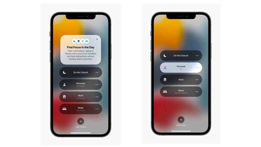 Fokus funktion iOS 15