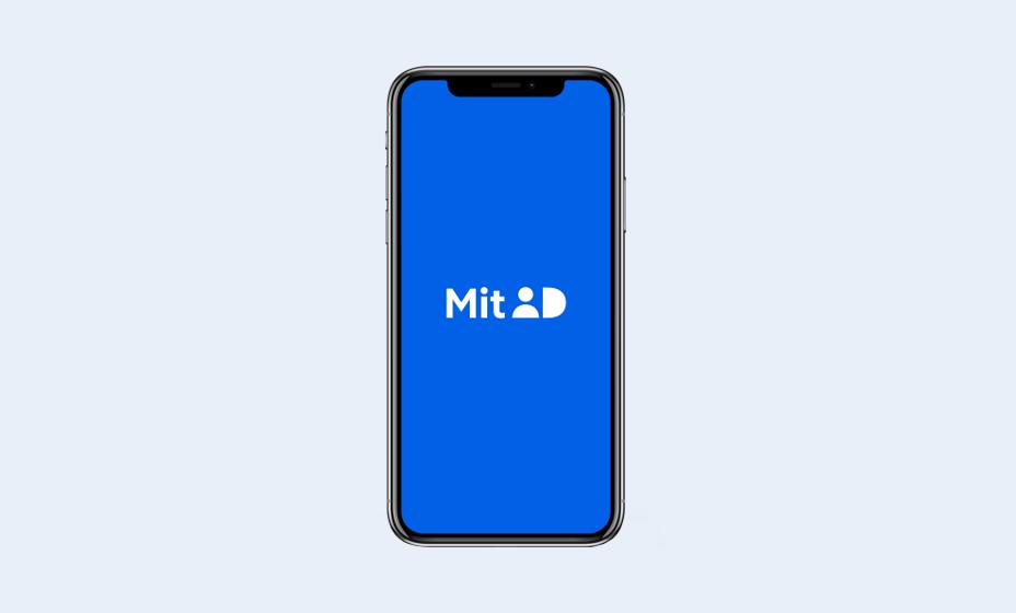 MitID app på smartphone