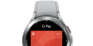 Android Pay på Wear OS smartwatch