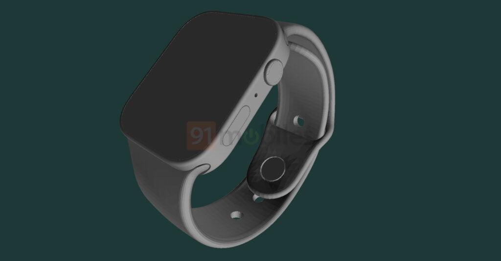 Rygter-billede render af Apple Watch Series 7