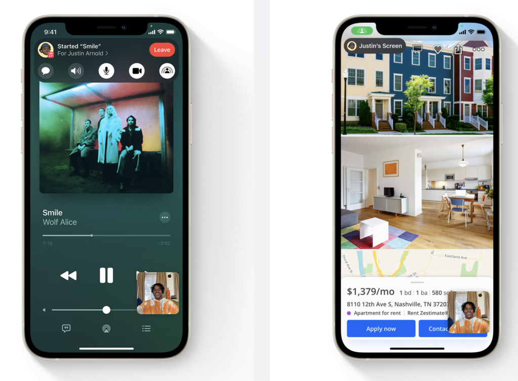 iOS 15 share iPhone FaceTIme