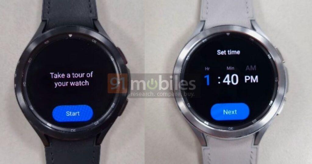 Galaxy Watch 4 med One UI Watch